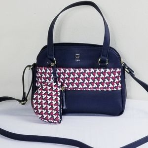 Tommy Hilfiger satchel with pouch crossbody purse!